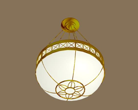 Indoor pendant light fixture 3d rendering