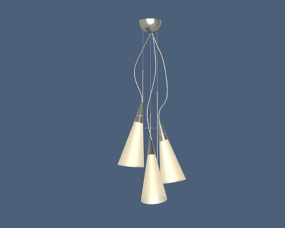 Cone pendant lights 3d rendering