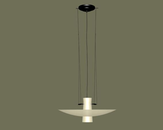 Line pendant light 3d rendering