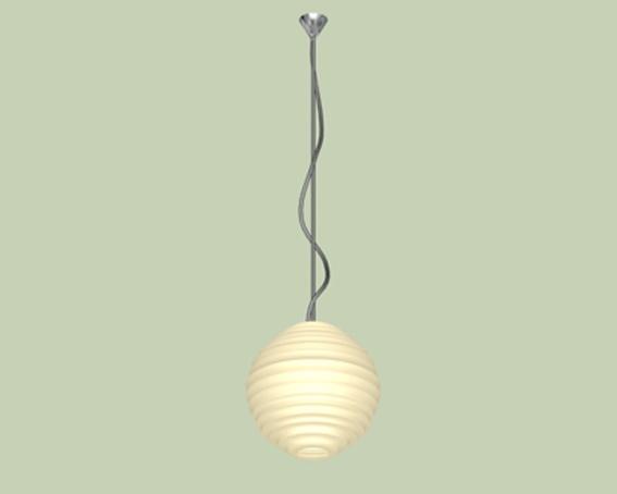 Ball pendant light 3d rendering