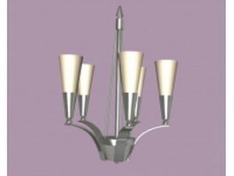 Modern pendant chandelier 3d preview