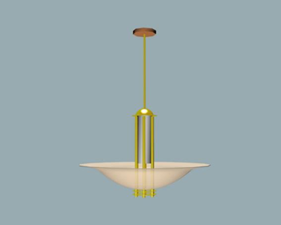 Unique pendant lighting 3d rendering