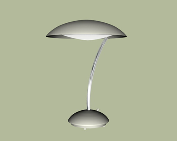 Contemporary table lamp 3d rendering