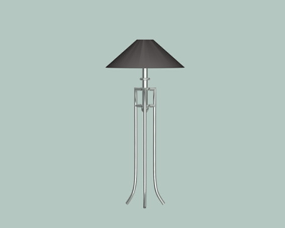 Modern table lamps 3d rendering