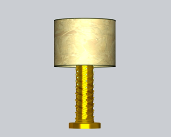 Decorative table lamps 3d rendering