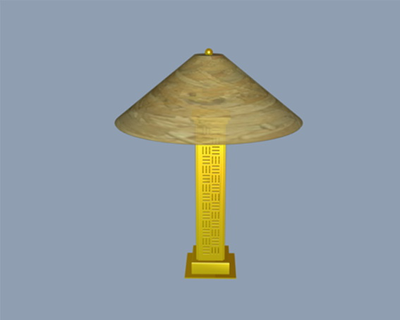 Traditional table lamps 3d rendering