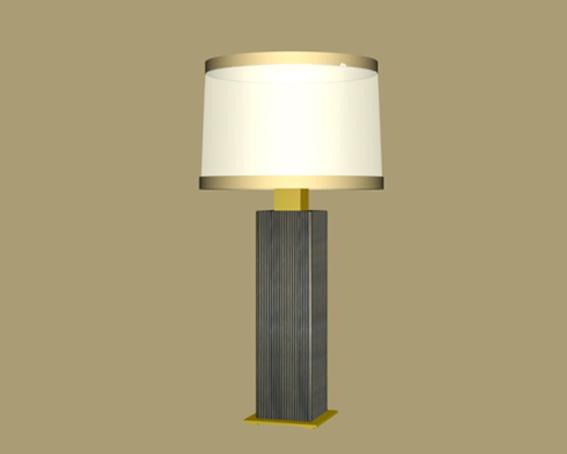 Bedroom table lamp 3d rendering