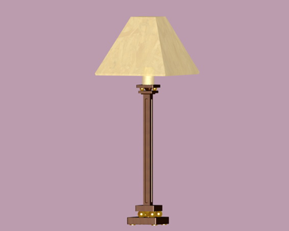 Living room table lamps 3d rendering