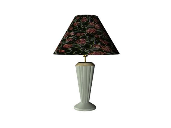 Bedside table lamp 3d rendering