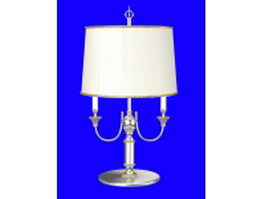 Chrome table lamp 3d model preview