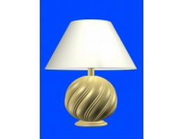 Retro table lamp 3d preview