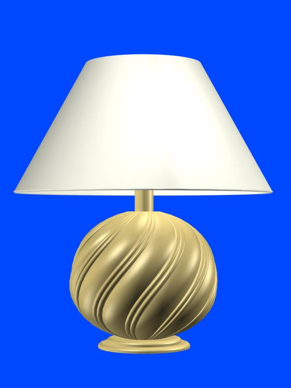 Retro table lamp 3d rendering