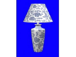 Vintage style lamp 3d model preview