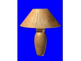Wooden table lamp 3d model preview