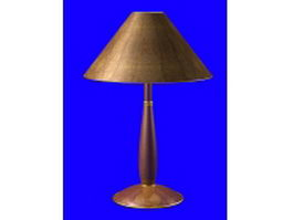 Vintage wood lamp 3d model preview