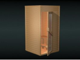 Wood sauna room 3d preview