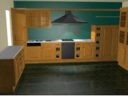 U kitchen designs 3d model preview