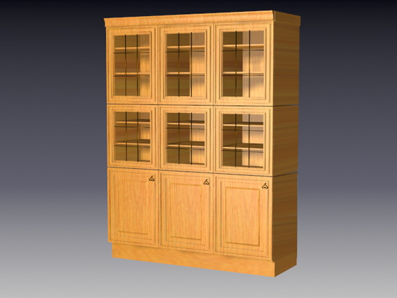 Kitchen cupboards 3d rendering