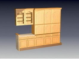 Kitchen wall cupboards 3d preview