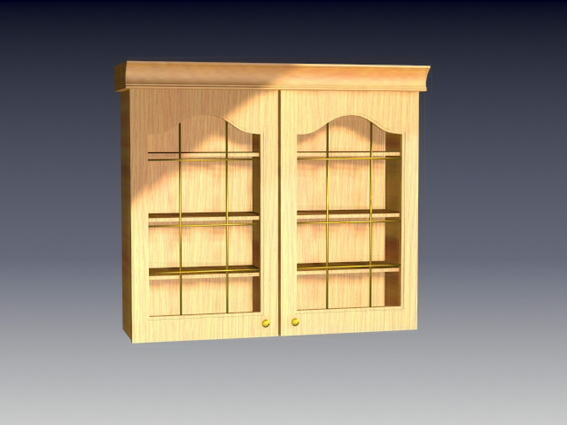 Antique kitchen cupboards 3d rendering