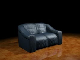 Leather couches 3d preview