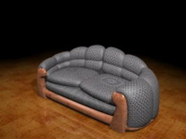 Leather loveseat 3d preview