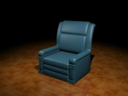 Leather club chair 3d preview