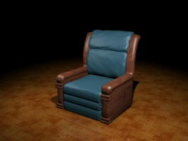 Vintage club chair 3d preview