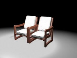 Fauteuil elbow chairs 3d preview