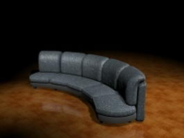 Arc shape sectional sofa 3d preview