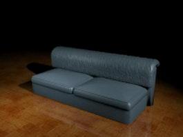 Blue velvet couch 3d model preview