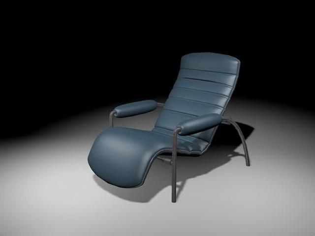 Outdoor recliner chair 3d rendering