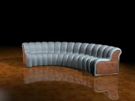 Curved couch sofa 3d model preview