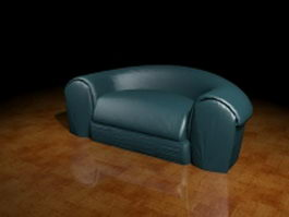 Blue sofa couch 3d model preview