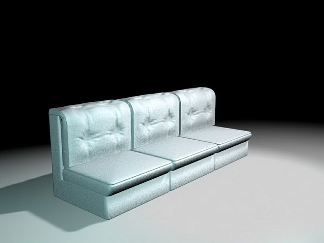 Three cushion couch 3d rendering