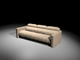 Modern sofa bed 3d model preview