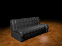 Armless sofa bench 3d preview