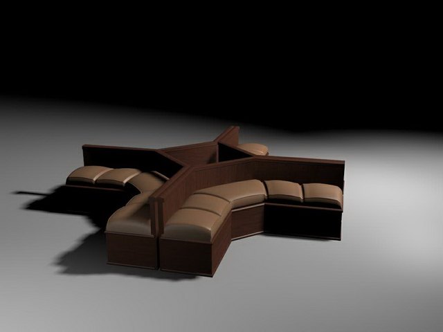 Waiting room sofa sectionals 3d rendering