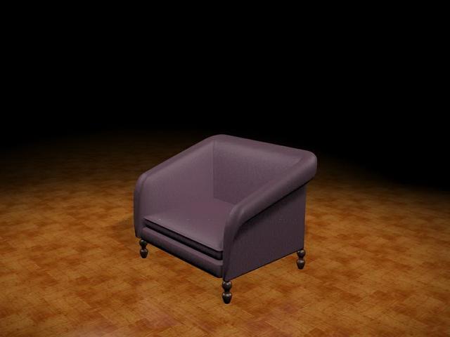 Tub armchair 3d rendering