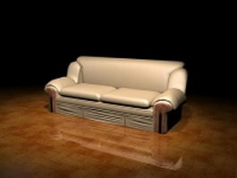 Two cushion loveseat 3d preview