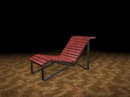 Outdoor sun lounger 3d preview