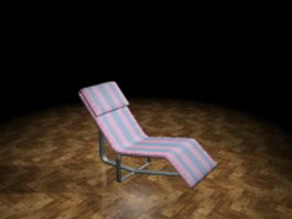 Garden sun lounger 3d preview