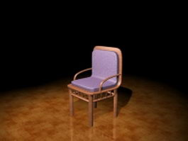 Retro dining chair 3d model preview