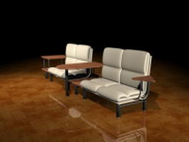 Waiting chairs for salon 3d preview