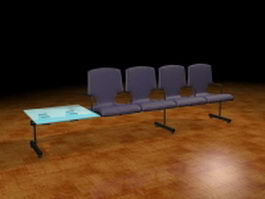 Airport waiting chairs 3d preview