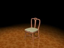 Wood dining chair 3d model preview
