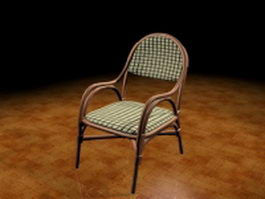 Wood arm chair 3d preview