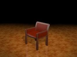 Vintage armchair 3d preview