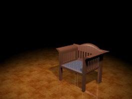 Mission arm chair 3d preview