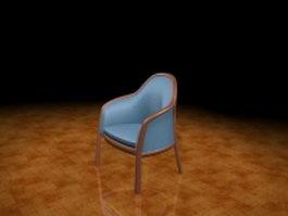 Blue tub chair 3d preview